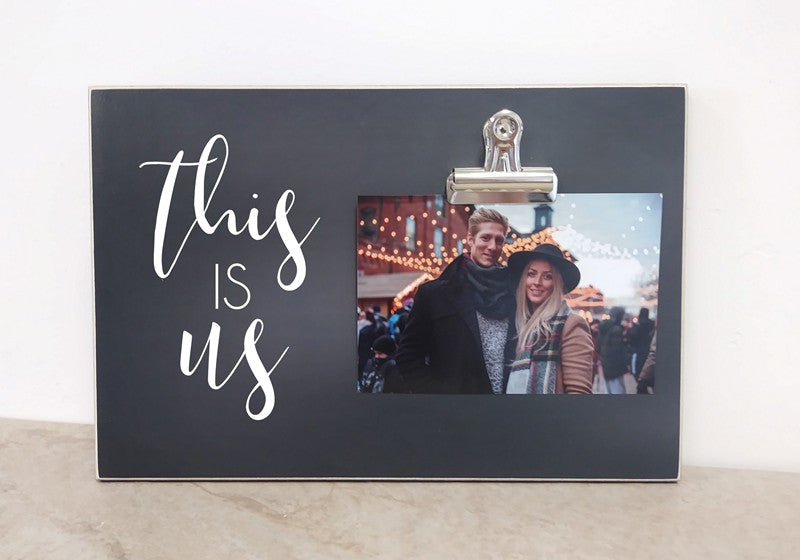 chalkboard photo frame this is us picture frame gift for couples, family gift christmas gift
