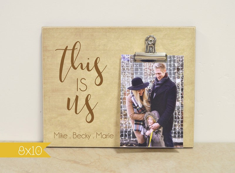 this is us family photo frame gift for family