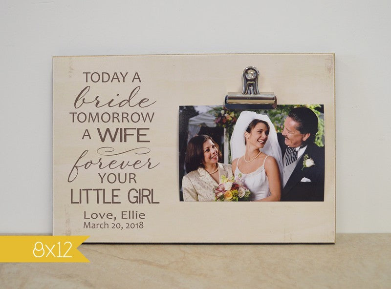 picture frame for mother of the bride, mother of the bride thank you gift