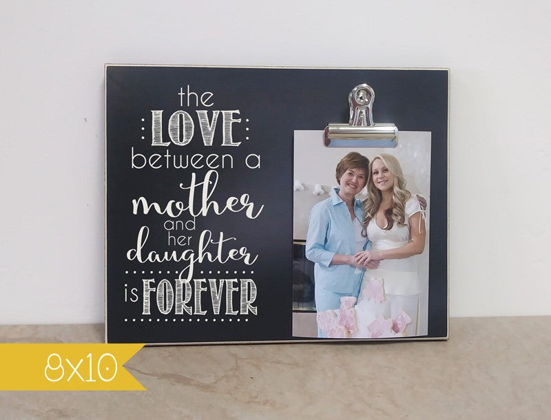 wedding thank you gift to parents, the love between mother and daughter is forever