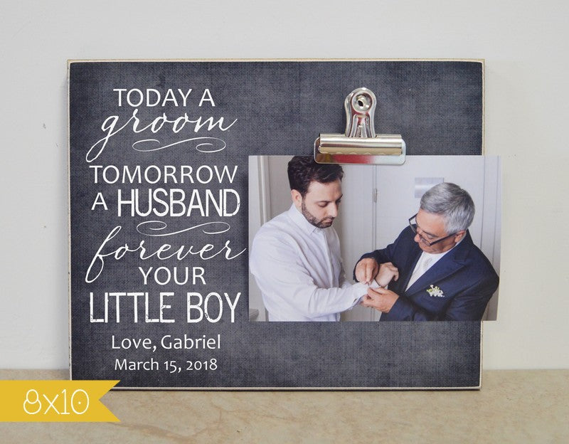 parents of the groom picture frame