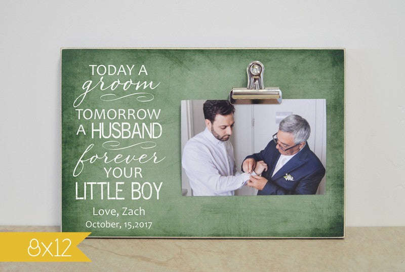 photo frame gift for parents of the groom, wedding thank you to parents