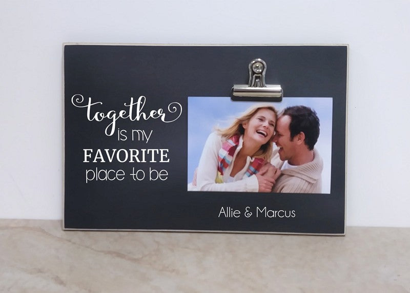 together is my favorite place to be photo frame couples gift for valentines day or anniversary