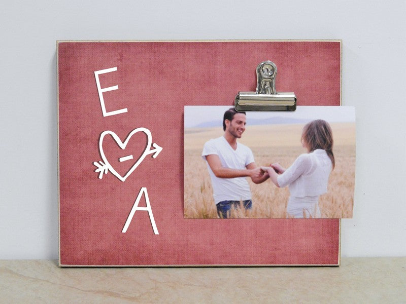 Personalized Tree Carving Sweetheart Photo Frame with Initials