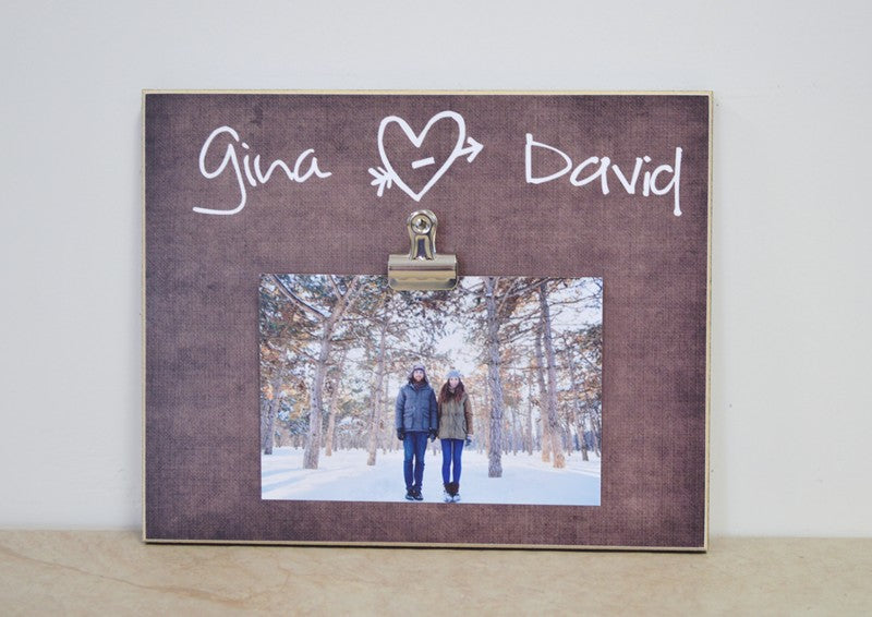 wedding gift for couple personalized photo frame with names