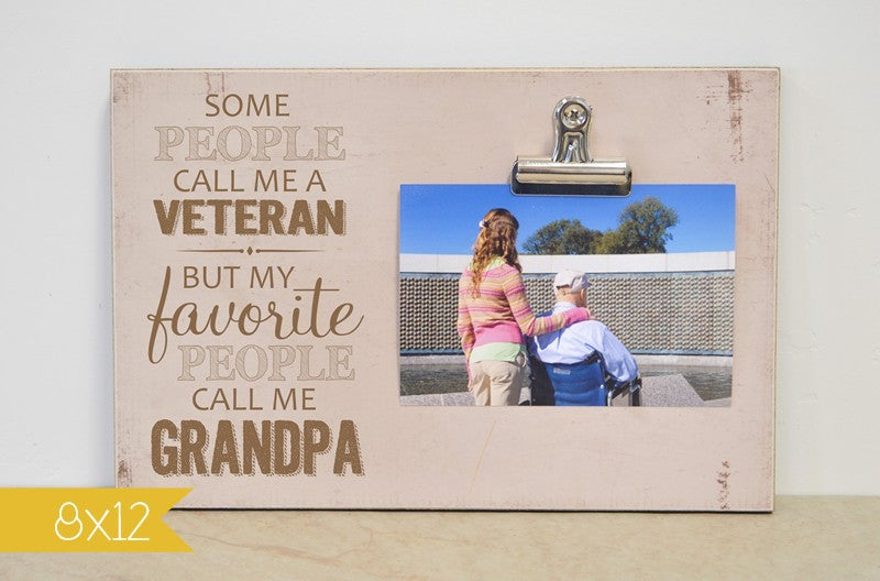 veterans day gift for grandpa, personalized picture frame grandpa gift