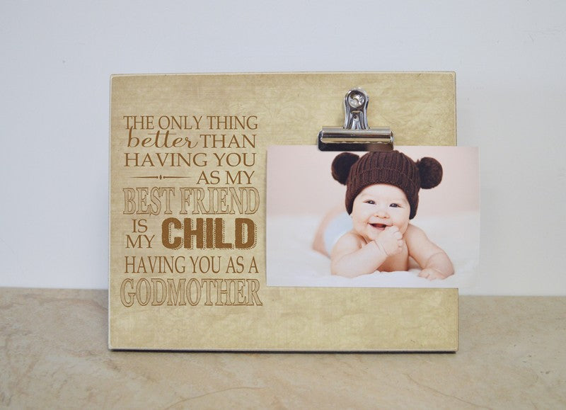 godmother picture frame gift for best friend,