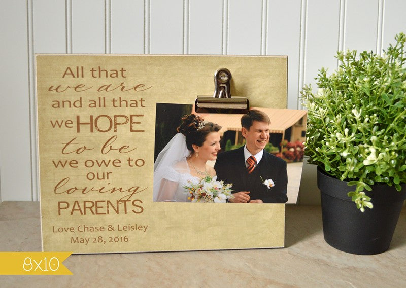 Parents of the Bride or Parents of the Groom Photo Frame