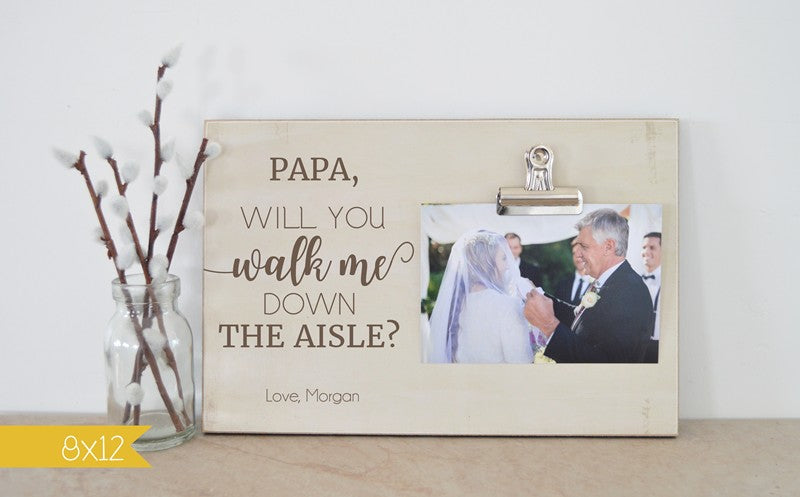 Will You Walk Me Down The Aisle Photo Frame