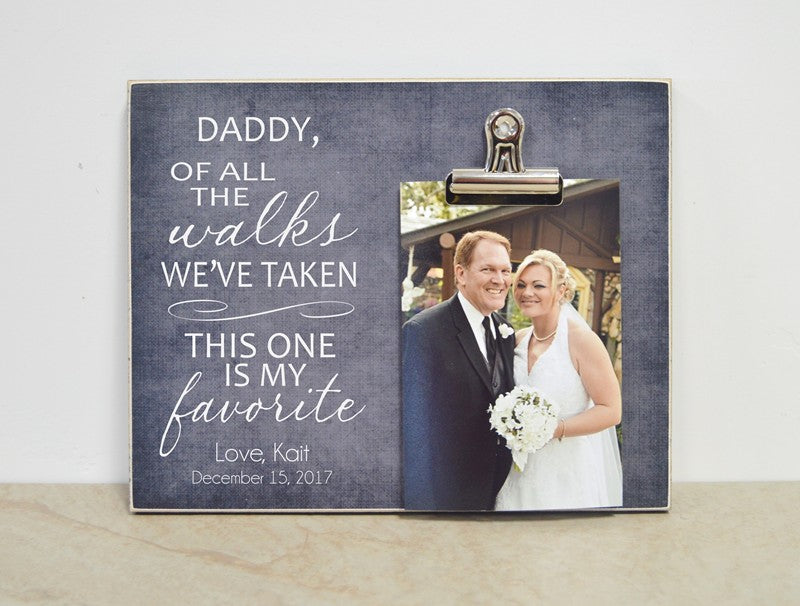father of the bride gift picture frame