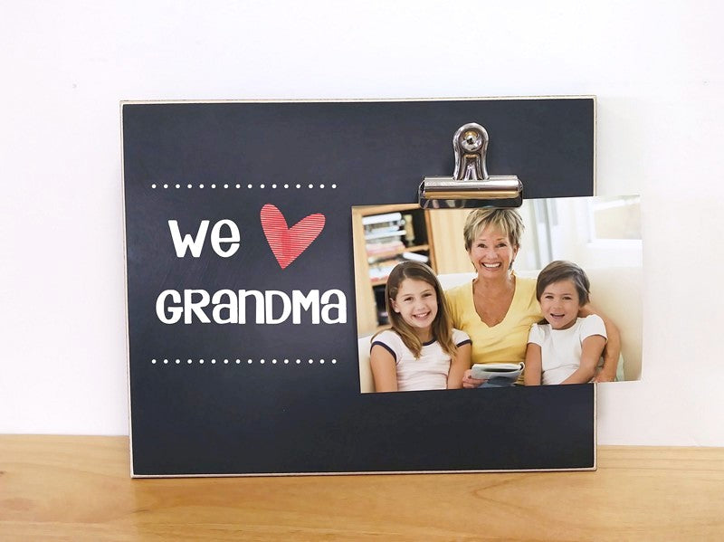 personalized picture frame for grandma, we love grandma, we love nana, we love gigi, we love mimi