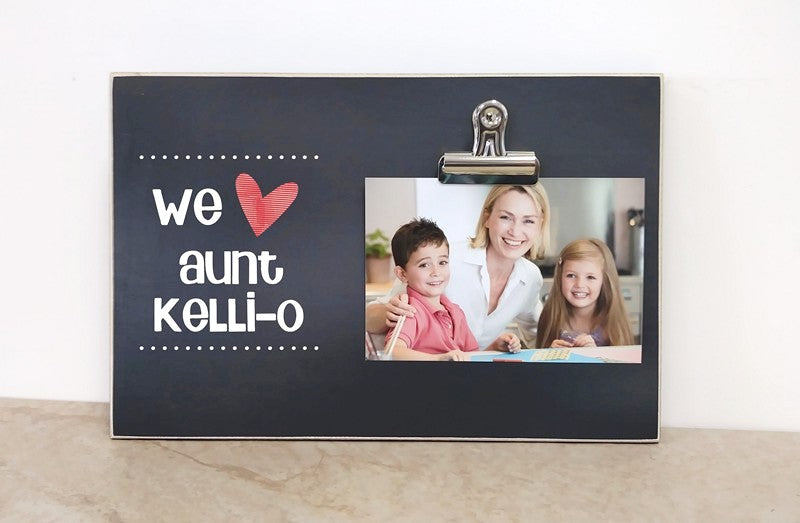 personalized gift for aunt, custom photo frame, auntie gift, we love aunt