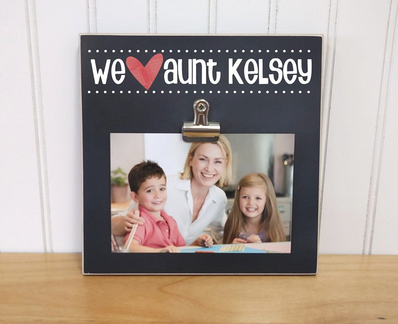 we heart aunt, auntie photo frame gift for aunt, gift for auntie