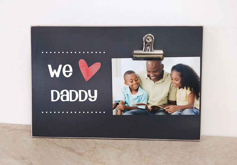 we love daddy custom photo frame father's day gift for dad, personalized gift