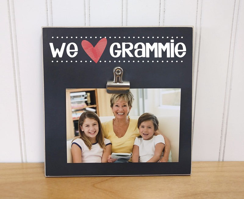 we heart grammy, we love grandma photo frame, mothers day gift for grandma