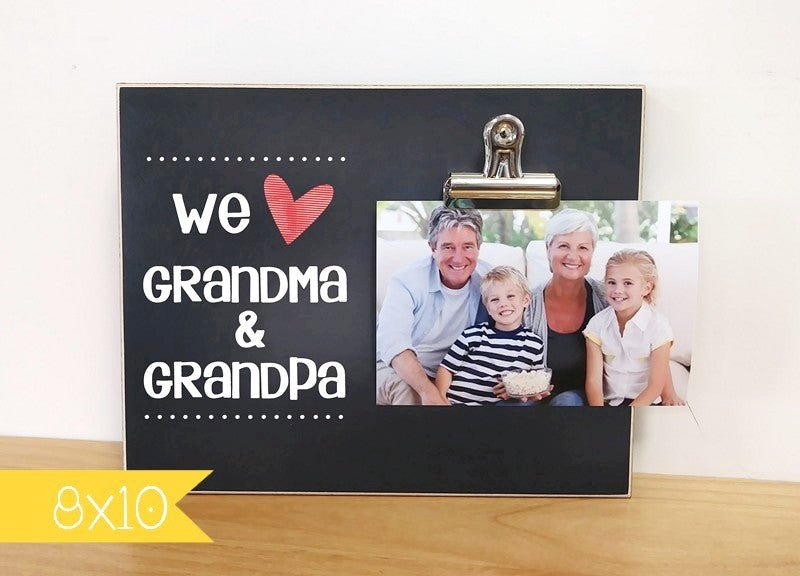 We Love Grandma and Grandpa Custom Picture Frame