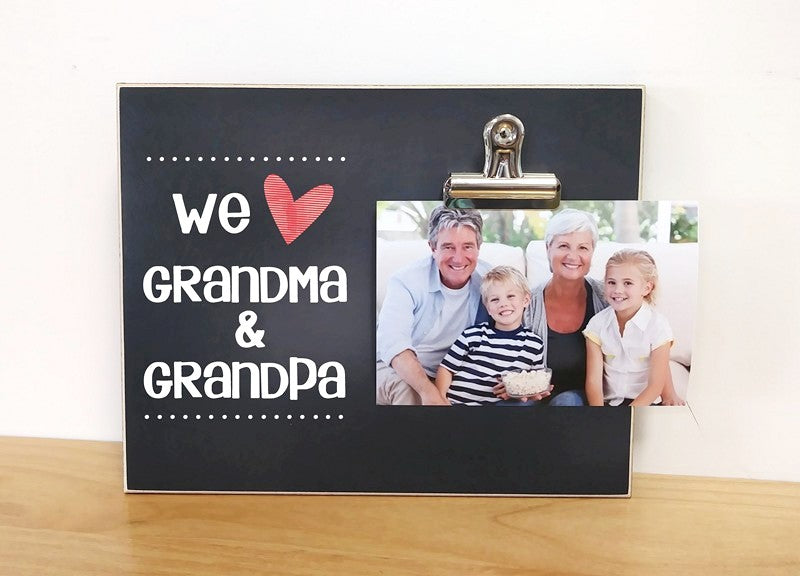 we love grandma and grandpa custom photo frame, personalized picture frame