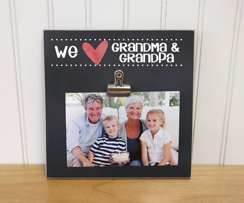 we love grandma and grandpa photo clip frame, grandparents day gift