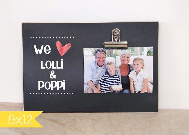 We Love Daddy, Personalized Picture Frame for Father's Day
