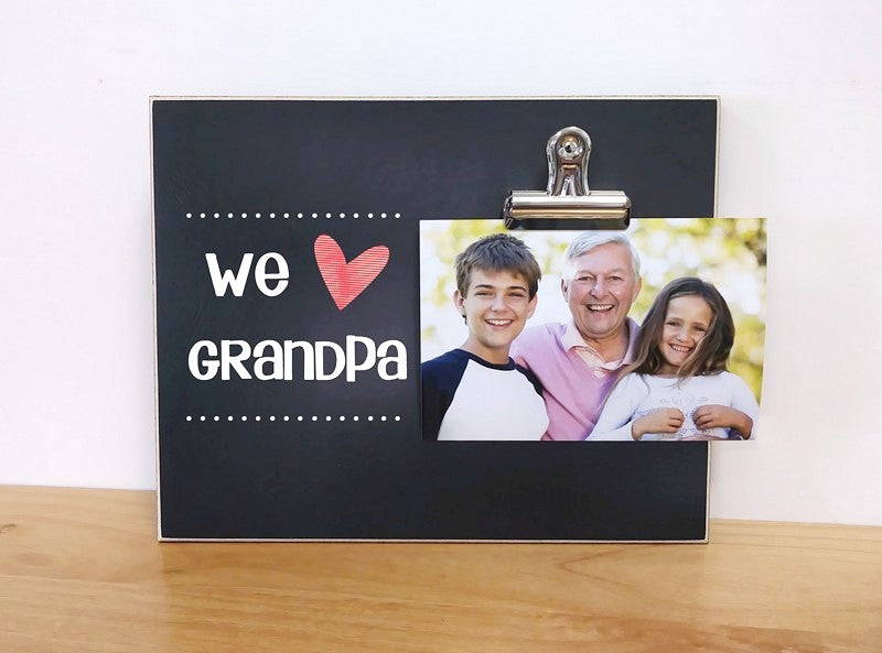 picture frame for grandpa, personalized gift for grandpa, papa gift, we love grandpa