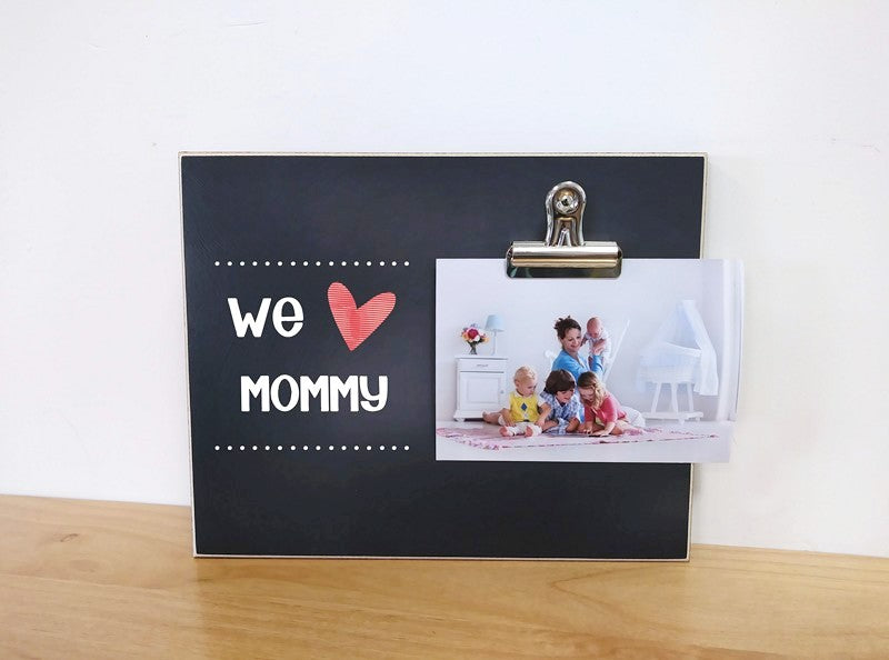 we love mommy custom photo frame, personalized gift for mom, mommy gift, mothers day gift idea