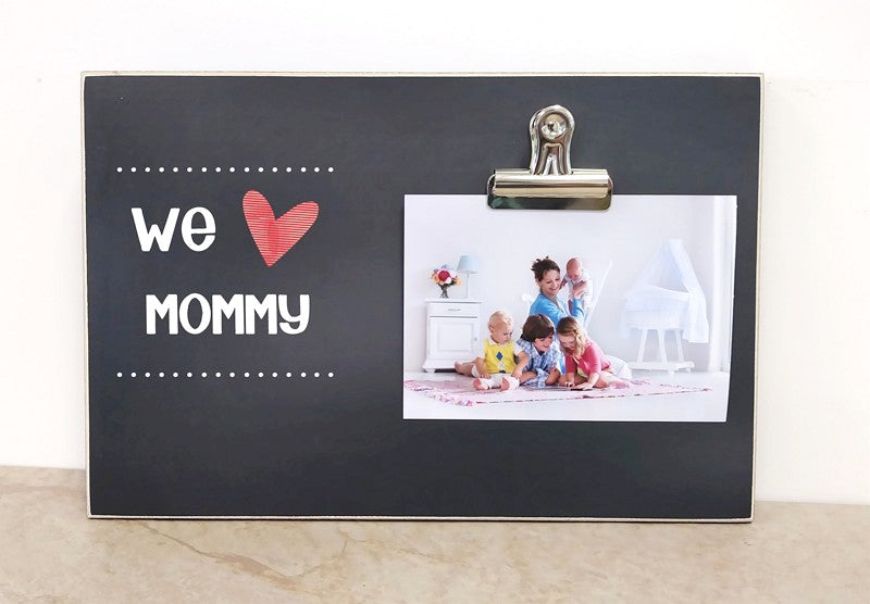 we heart mommy photo frame, mothers day gift for mom