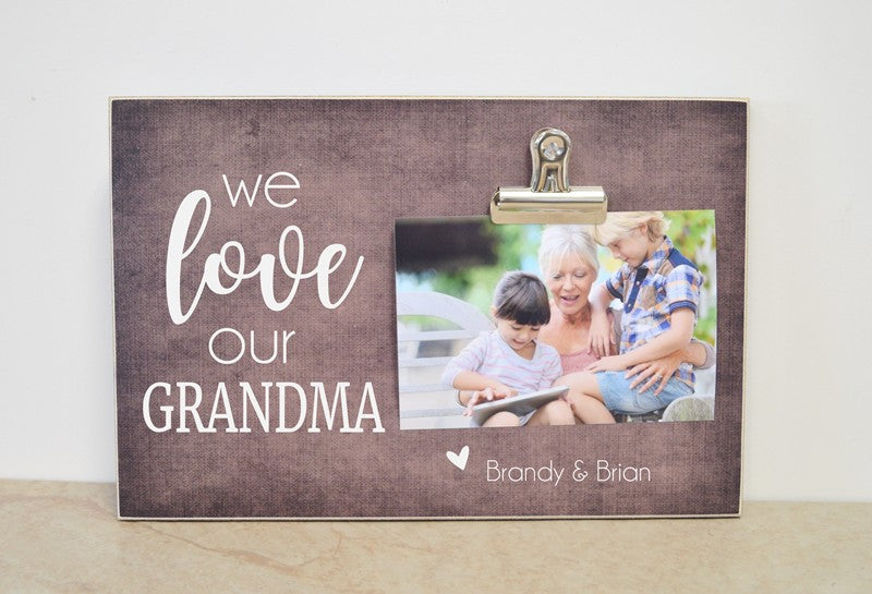 we love our grandma mothers day gift idea photo frame