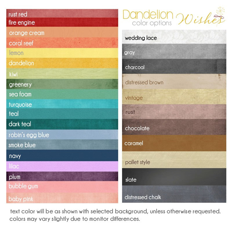 color chart options