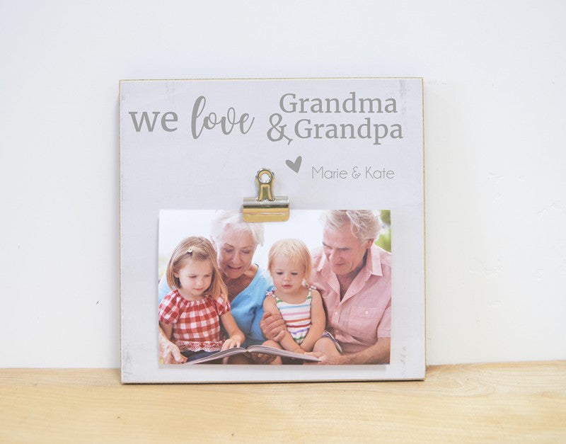 we love grandma and grandpa 8x8 frame