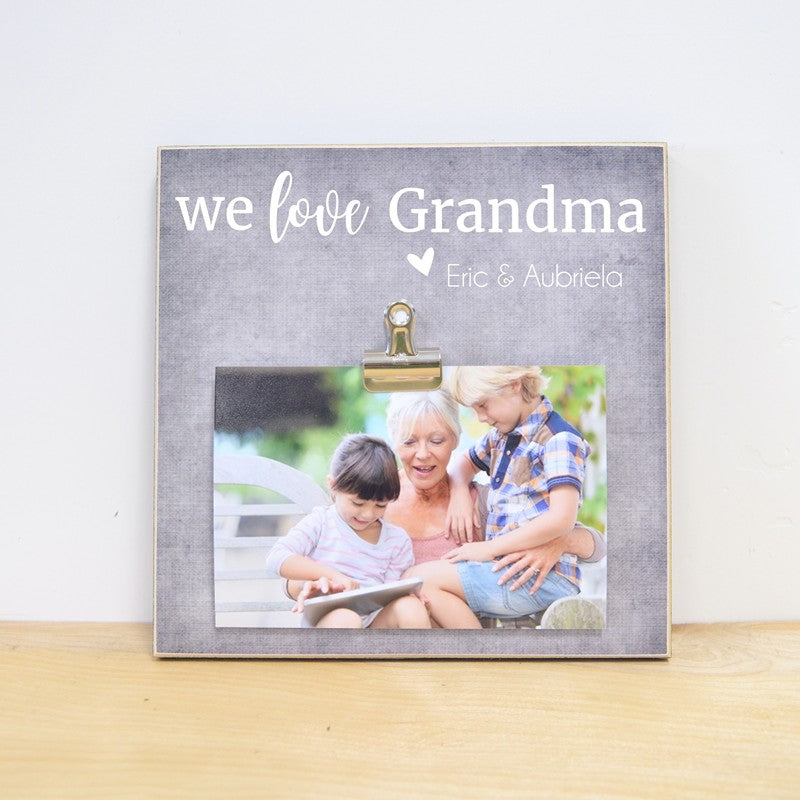 personalized i love grandma and grandpa photo frame