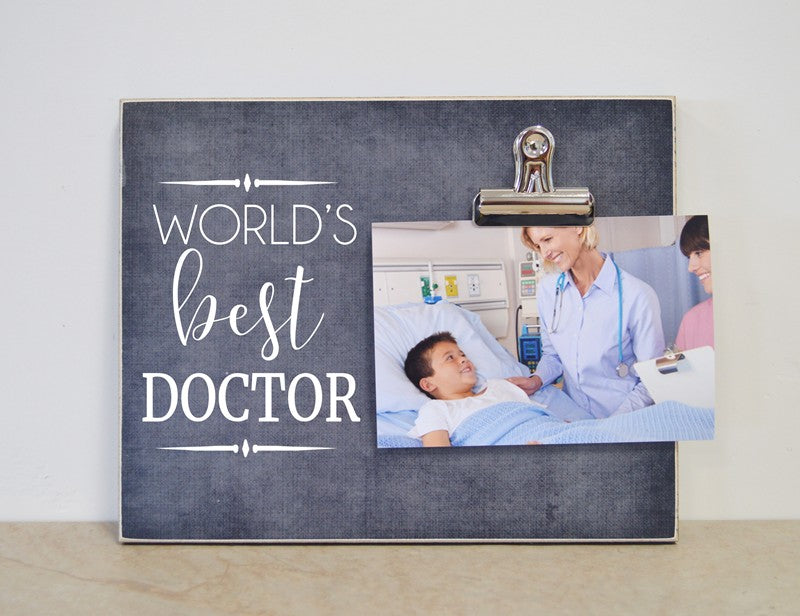 worlds best doctor photo frame, thank you gift for doctor