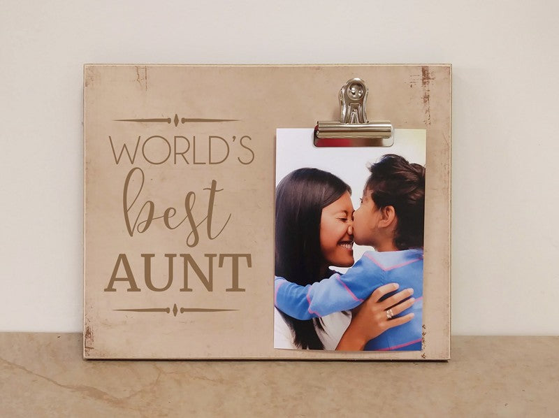 worlds best aunt photo clip frame gift for aunt