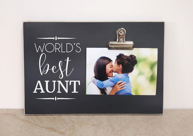 worlds best aunt photo frame, birthday gift for aunt