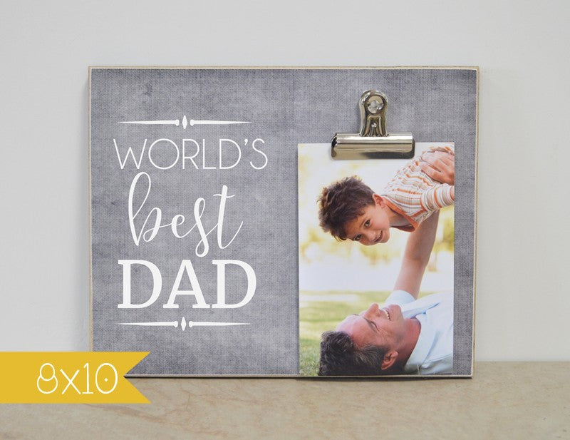 worlds best dad photo frame fathers day gift for dad gift