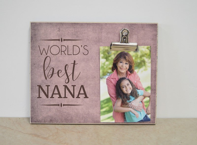 worlds best nana photo frame, mothers day gift for nana, gift for grandma, grandma gift