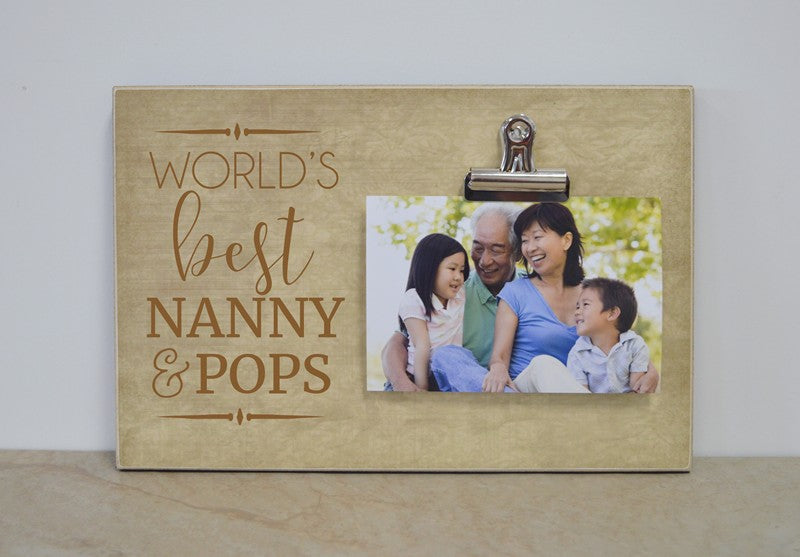 grandparents day gift for grandparents, personalized photo frame for nanny and pops, frame for grandma and grandpa