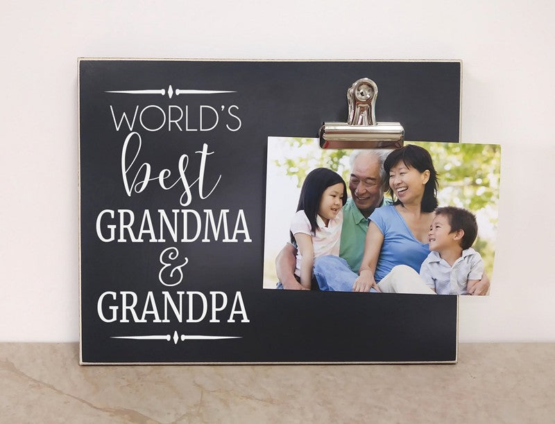 World's Best Grandpa and Grandma Photo Frame