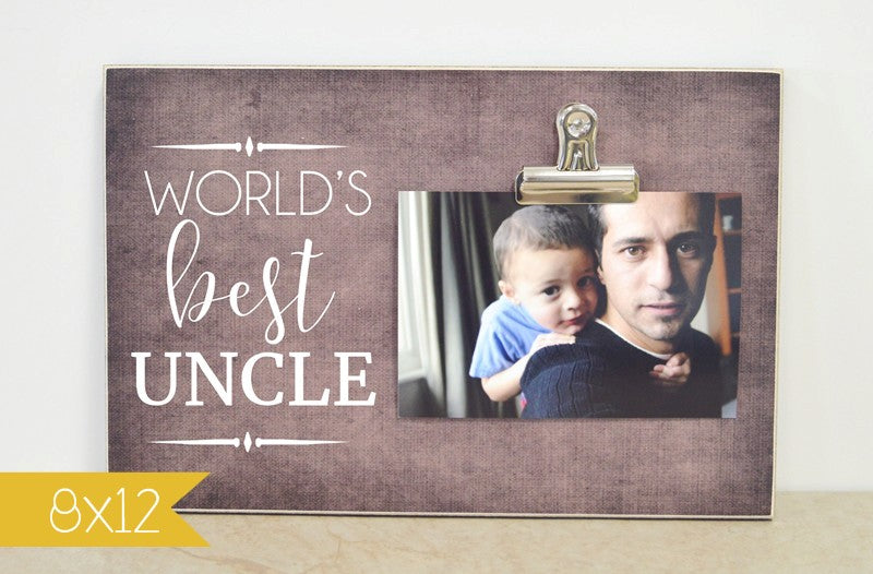 8x12 frame worlds best uncle photo clip frame christmas gift for uncle