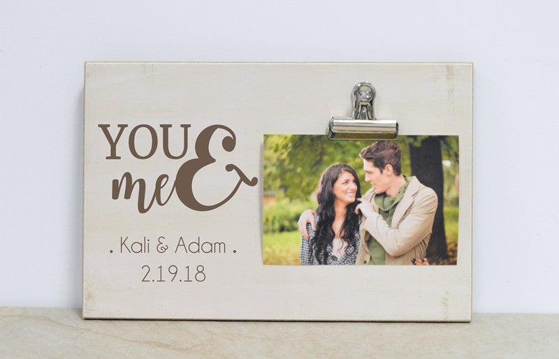 You Me Personalized Photo Frame For Couple Dandelion Wishes
