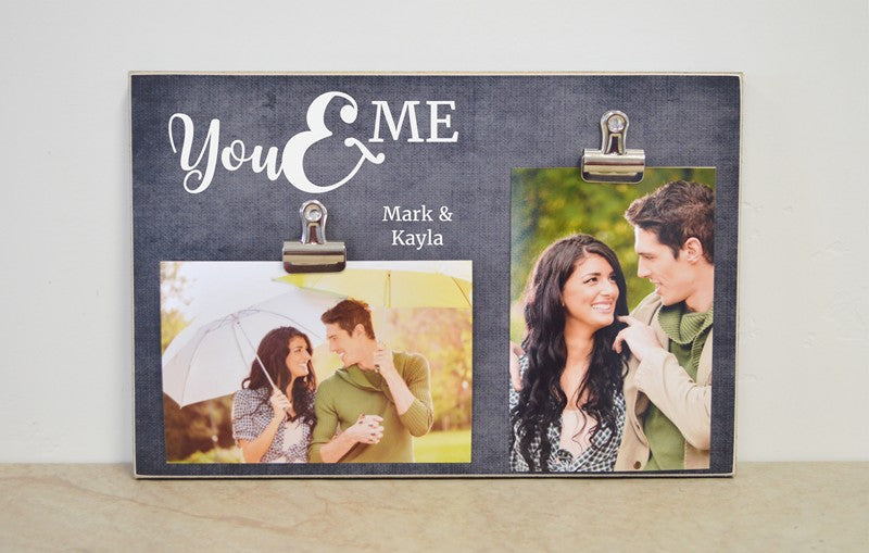you and me personalized photo frame gift for couple