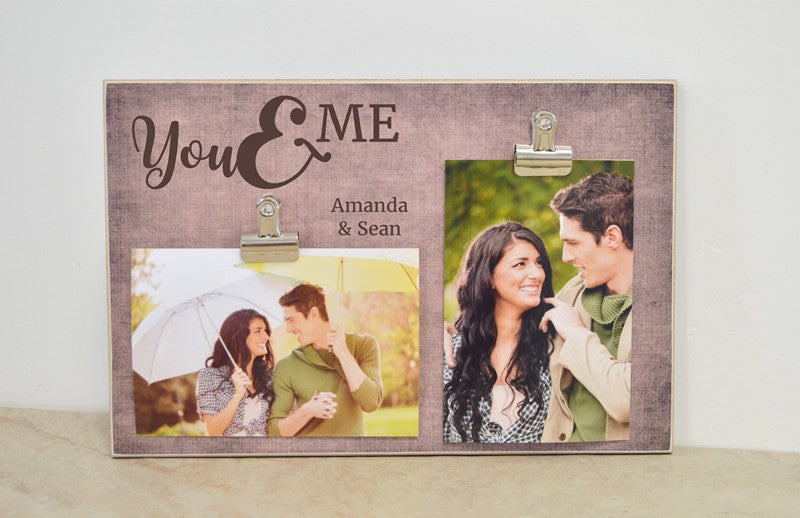 couples gift you and me picture frame, personalized gift