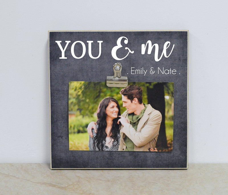 you and me custom photo frame valentines day anniversary gift