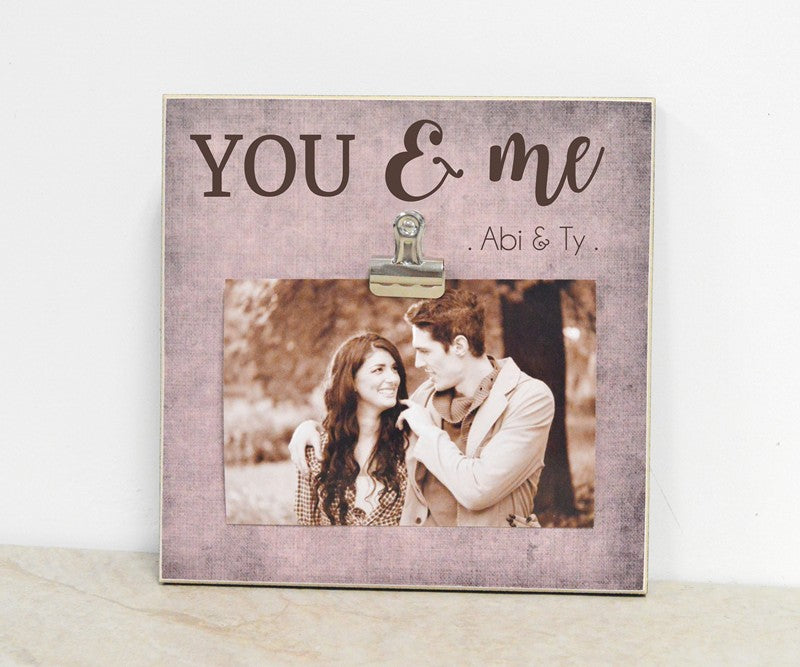 you and me custom photo frame gift for couple