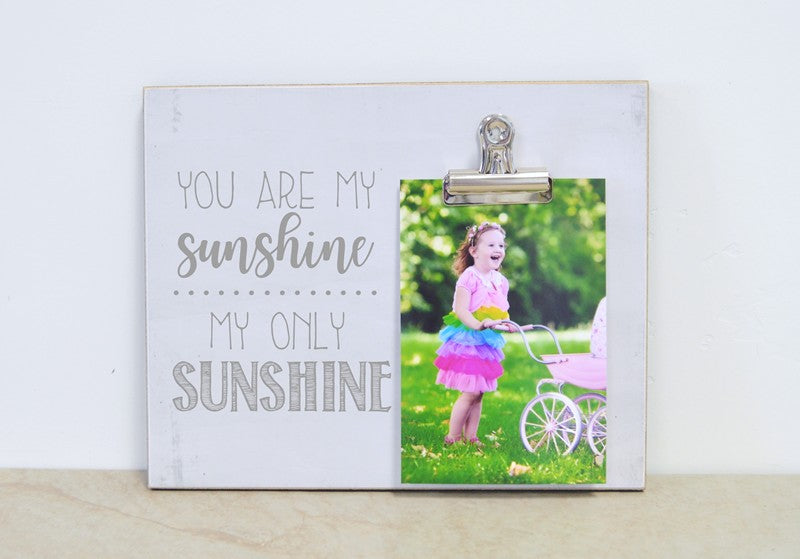 farmhouse photo frame you are my sunshine