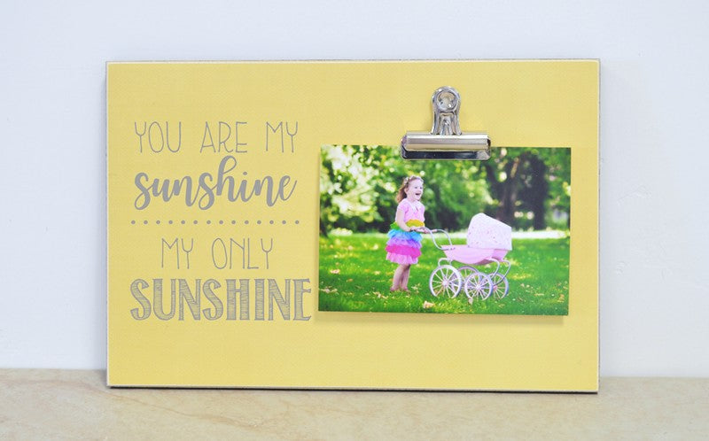 you are my sunshine photo frame with clip, nursery decor, baby gift