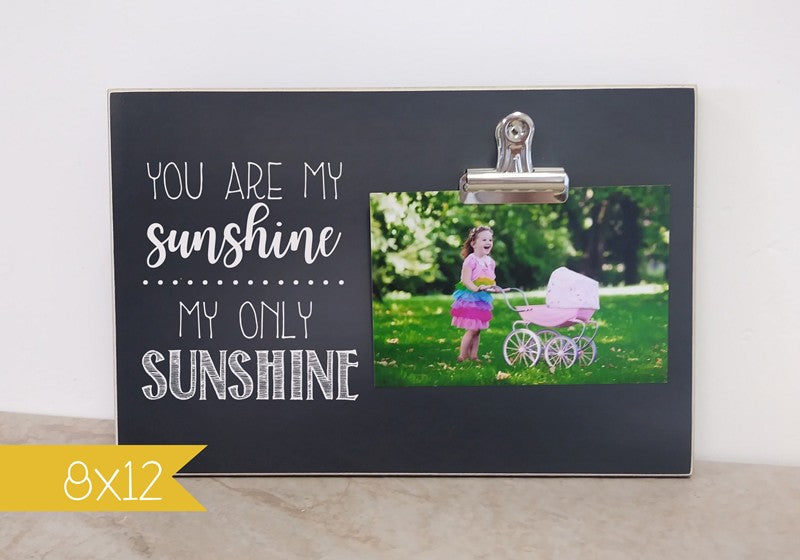 chalkboard picture frame you are my sunshine