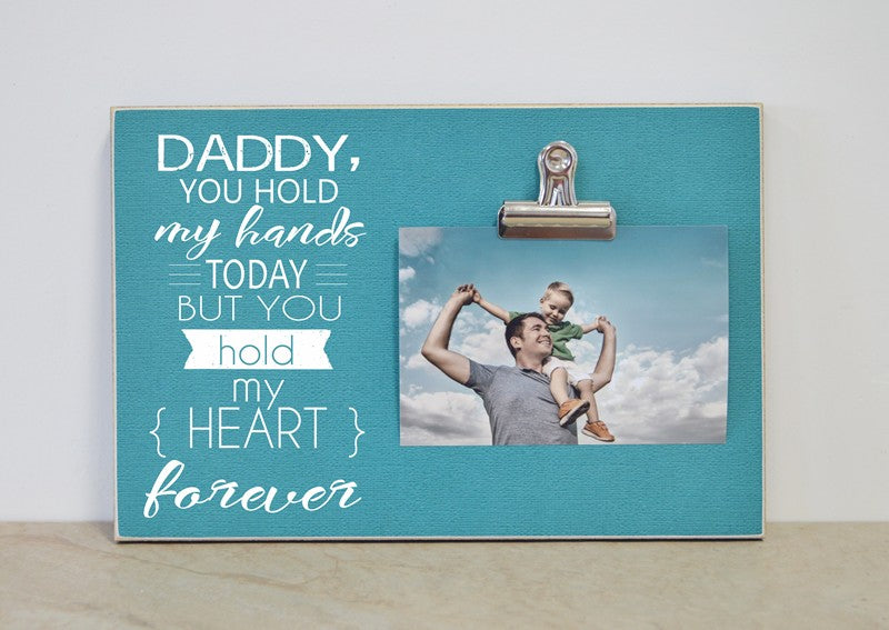 Gift for daddy, father's day gift, personalized photo frame, daddy gift, gift for dad