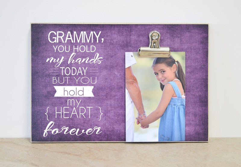 grandma gift, grammy photo frame, personalized gift, personalized frame, photo gift