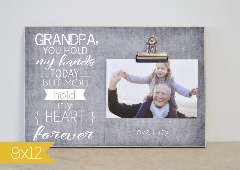 personalized photo frame in 810 or 8x12 grandpa gift, father's day gift for grandpa, grandpa's birthday gift