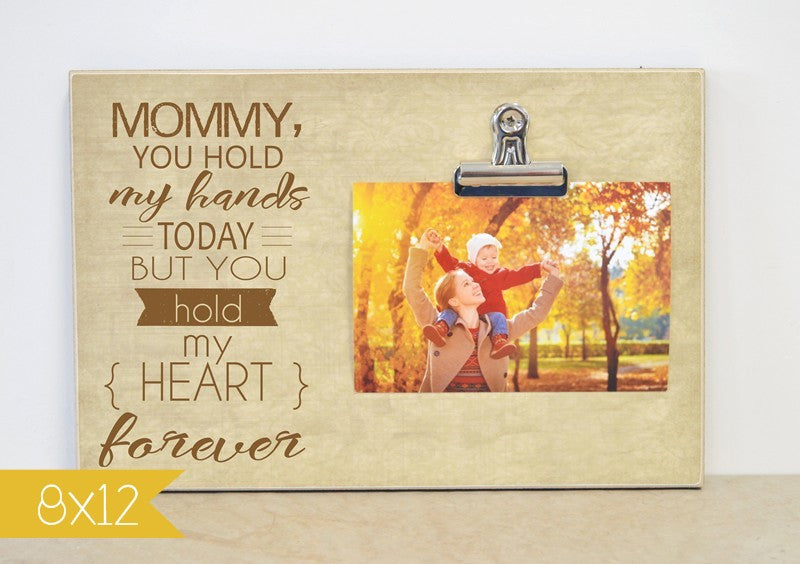 mommy hold my hands picture frame